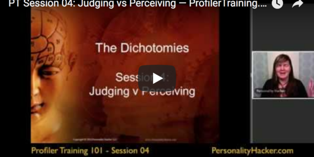 [VIDEO] Judging vs Perceiving — Profiler Training Sample