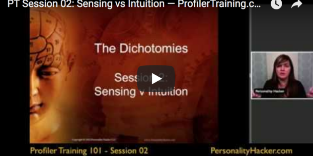 [VIDEO] Sensing vs Intuition — Profiler Training Sample